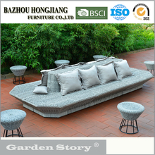 Garden Furniture Grey/Gray Rattan /Wicker Sofa Set