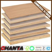 ISO High Quality pine commercial plywood