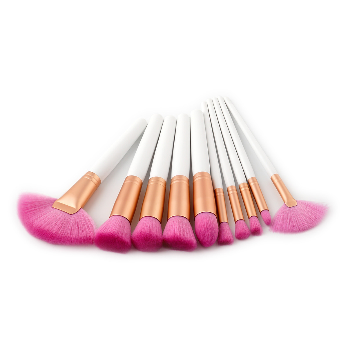 popular cosmetic tool foundation powder contour brush 2019 good sale on ebay amazon 10pcs make up brushes with diamonds