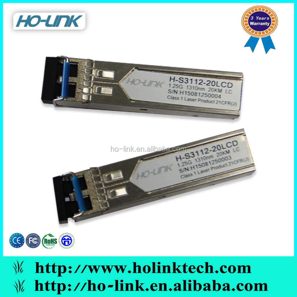 Huawei/Cisco/H3C/Extreme Compatible 1.25 SFP optical transceiver, SC/LC connector
