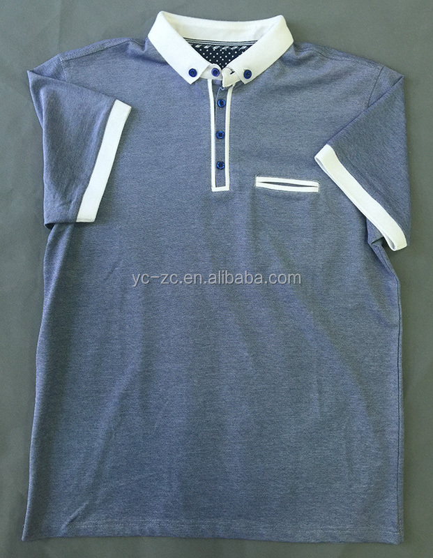 OEM wholesale classic designs short sleeves Three-button Polo henley shirt
