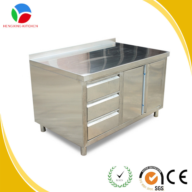 High quality stainless steel commercial kitchen cabinet for Stainless steel kitchen cabinets
