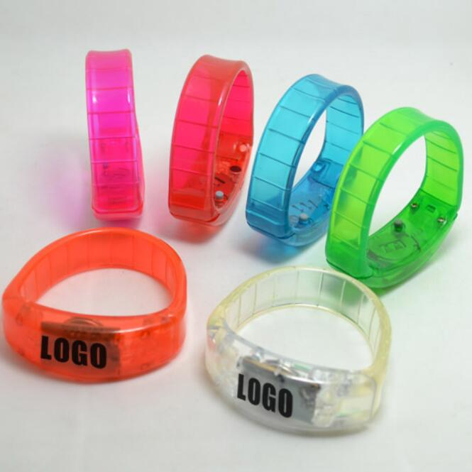 Party decoration led light glow in dark bracelet
