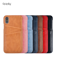 Mobile Phone Leather Case For iphone X , ID Credit Card Holder Leather Case Cover Ultra Slim Protective Leather Case