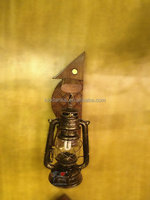 Balcony lighting fixture antique brass colored wall sconces