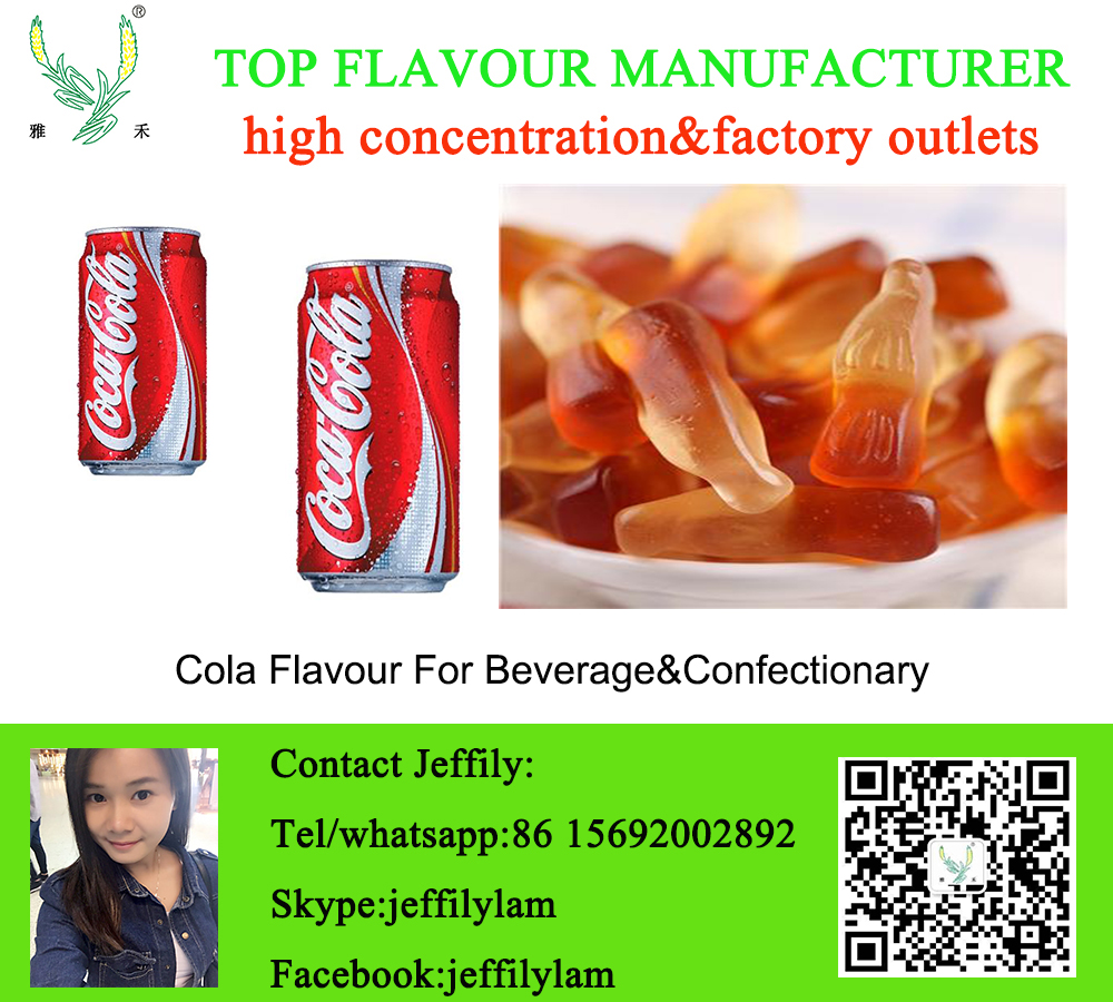High concentration coke flavour for cola drink and confectionary flavouring