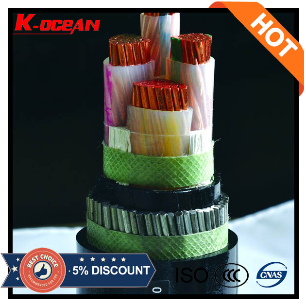 China Supplier 3core / 4core 4mm 6mm 10mm 16mm UG Armoured Cable Price