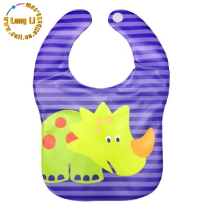 Cartoon design PEVA baby bandana bibs fancy baby bibs