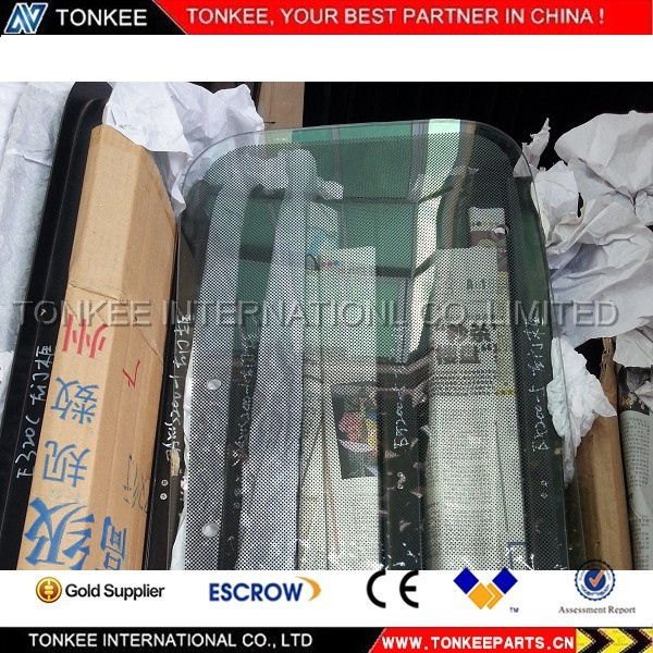 made in China EX200-2 excavator cabin door glass excavator glass