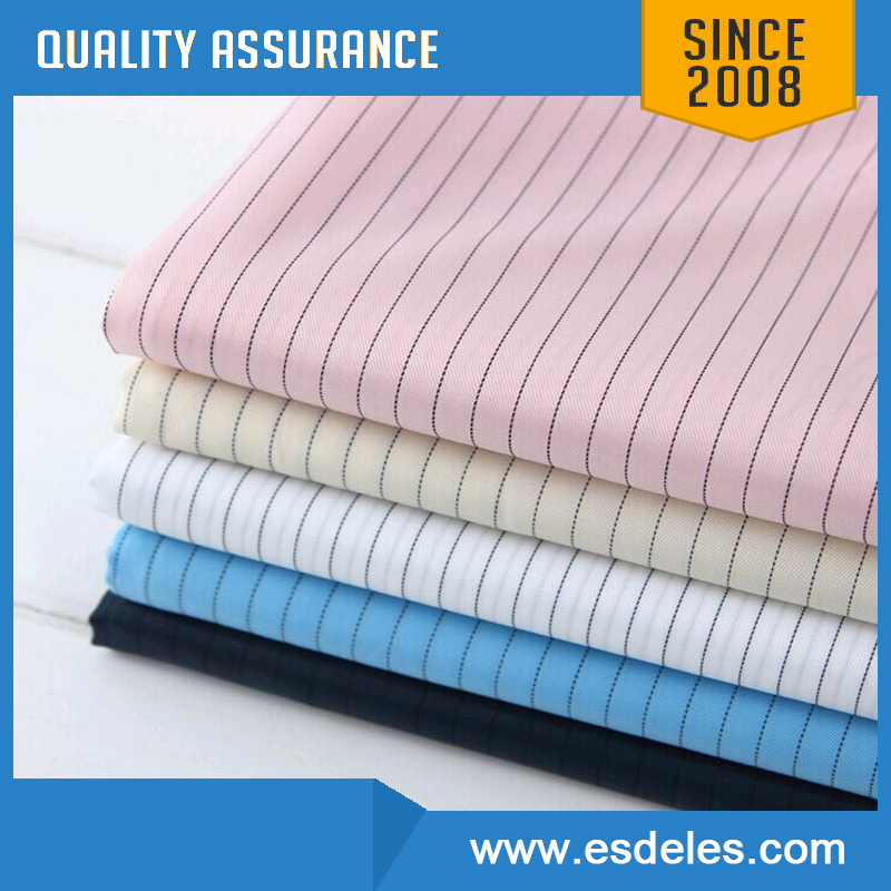 Different Colors Class 1000 Cleanroom ESD Cloth for Anti Static Workwear