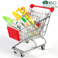 metal stationery holder mini shopping cart