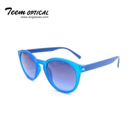 Cheap round custom sunglasses classic plastic sunglasses popular women eyewear with metal hinge