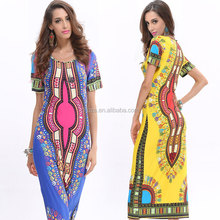 C22632B New Style Thailand Printed Dresses Tribal Dress
