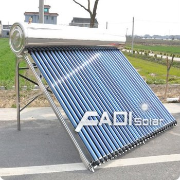 Stainless steel heat pipe solar water heater (250l)