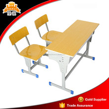 Metal frame study desk designs and elementary school student tables and chair