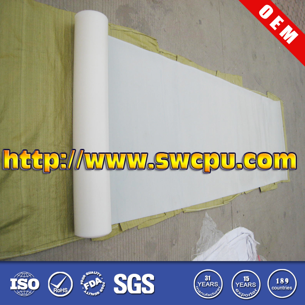 White food grade silicone rubber sheet