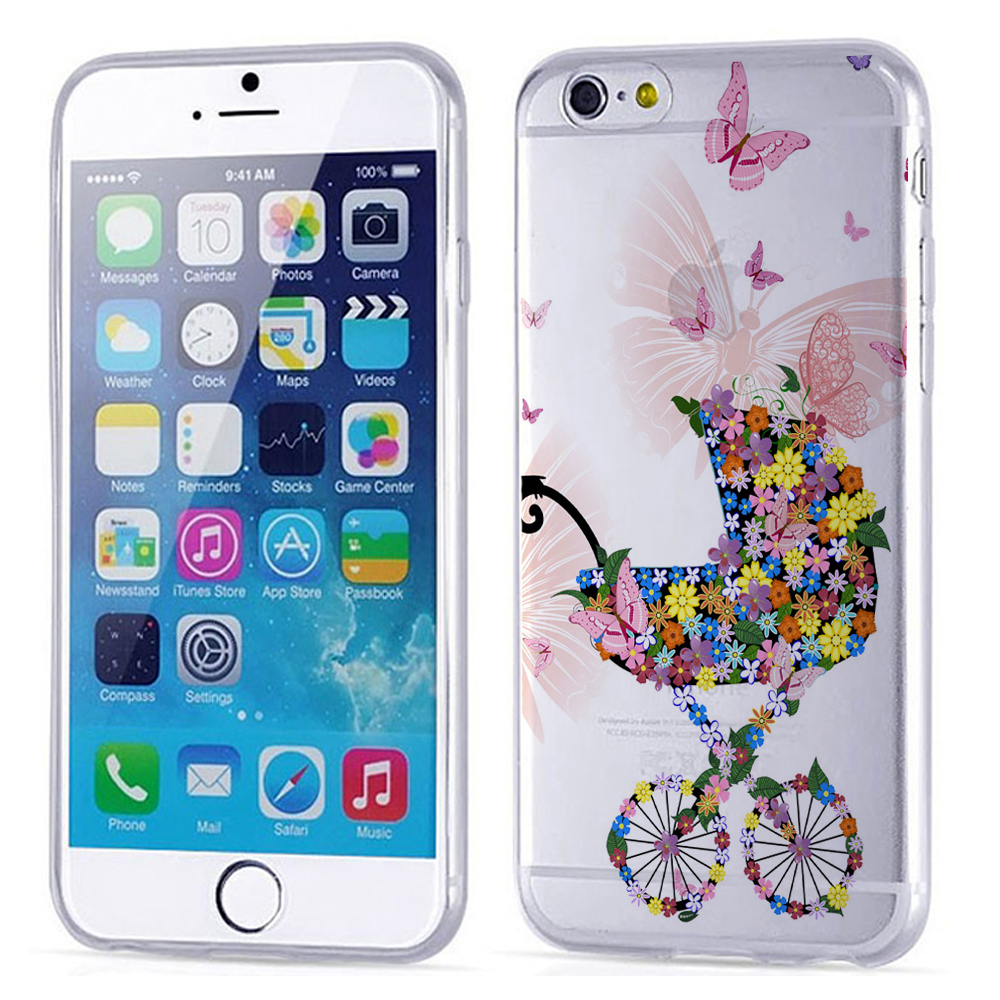 2016 factory wholesale flower girl design PC hard mobiile phone cover case for iphone 6