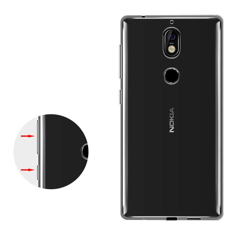 Most popular products china for nokia transparent mobile phone price for nokia 7 tpu case