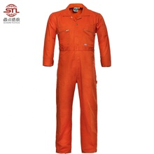 work industrial workwear working orange safety coverall boiler suit