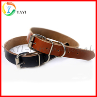 2016 Hot Products Pet Cow Real Leather Dog Collar