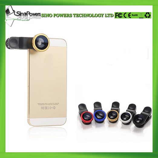3 in 1 Clip-On 180 Degree Supreme Fisheye + 0.67X Wide Angle+ 10X Macro Lens For iPhone 6 and smartphones
