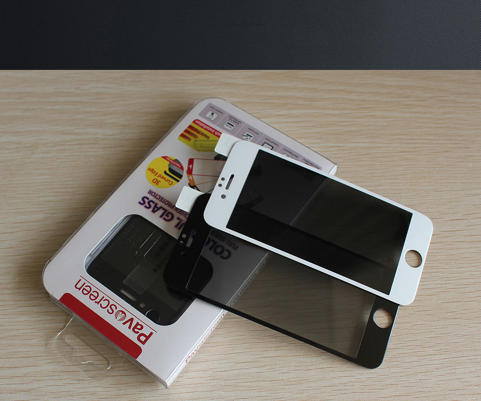 Anti spy fast delivery and accept Paypal western union for iPhone 6 / 6 Plus mobile phone 9h tempered glass screen protector