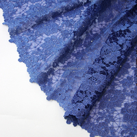 Modern latest beautiful fashion design heavy beaded stretch french lace fabric for party dress