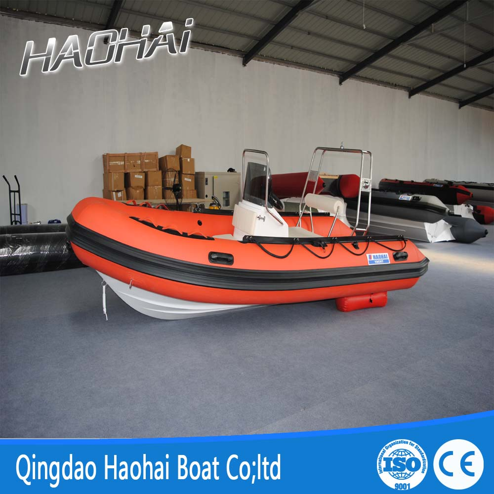 Factory direct 4.7m Aluminum hull RHIB Inflatable boat cabin