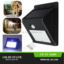 Super Bright Solar Powered Outdoor Motion Sensor Security Solar Led Wall Lights