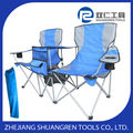 Double Seat Folding Chair Canvas Chair Outdoor Garden Pool furniture