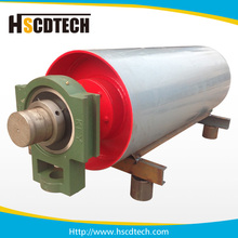 Top quality head pulley crown conveyor drum for brick conveyor