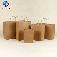 Wholesale Recycled Shopping Brown Paper Bag With Handle