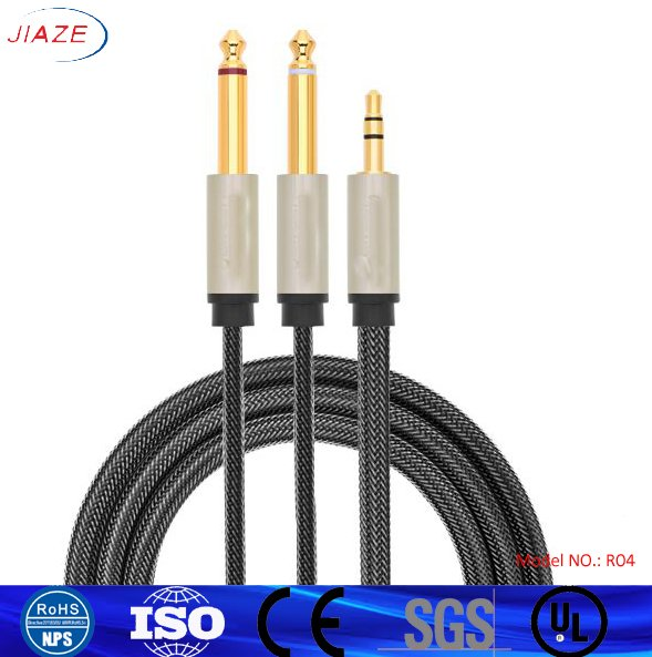 High Quality 3.5 mm to 6.5 mm Audio/Video Cable 3.5mm Audio Cable
