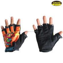 Children sports motor bike kids cycling riding racing drop resistant fingerless gloves