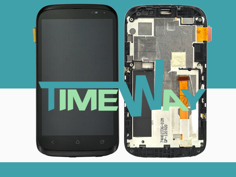 For HTC Desire X T328e LCD with Touch Screen Digitizer, lcd panel for HTC X T328e with frame,10 months warranty!