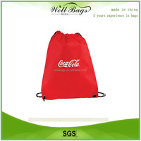 Promotional 210D Polyester Drawstring bag, polyester bag,recycle bags