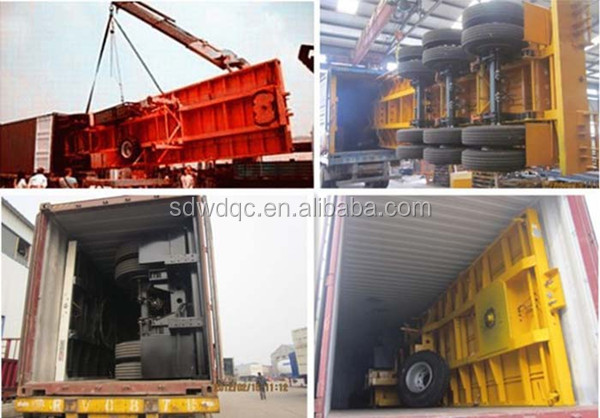 Factory supply 40ft faltbed container semi trailer