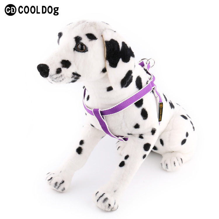 Bamboo Chest Bold Small Black Step-In Halter Dog Harness 8-14 inch