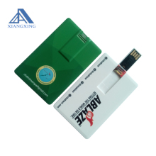Personalized credit card shaped usb flash drive, memory stick with custom logo