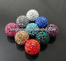 Fashion Shamballa crystal rhinestone balls beads!! Rhinestone clay crystal pave beads!! Attractive!! Hottest!! !!
