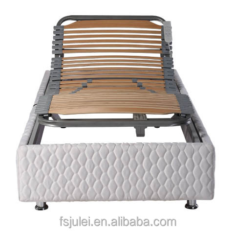 Sleep better adjustable electric bed frame with fabric bed surrounding edge DJ-PW30