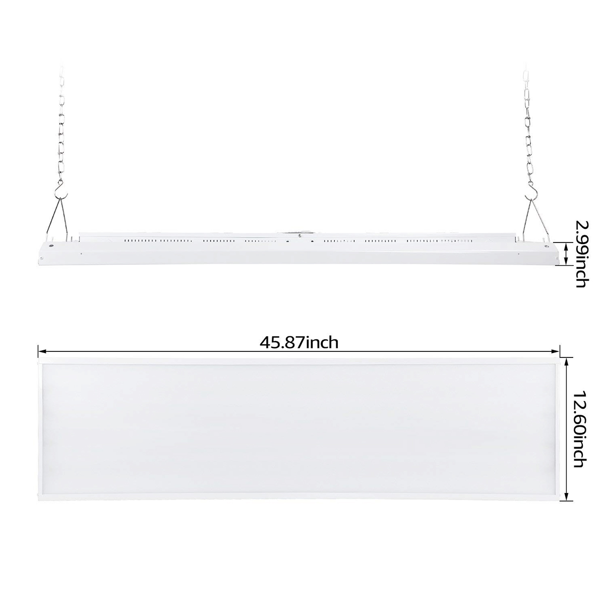 US Warehouse delivery LED linear high bay lighting DLC listed 2ft 4ft 100W 160W 130lm/w led high bay light shop linear lights