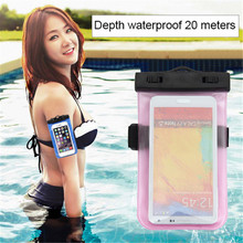 2018 Good Quality Ipx8 Pvc Mobile Phone Waterproof Bag With Armband For Iphone