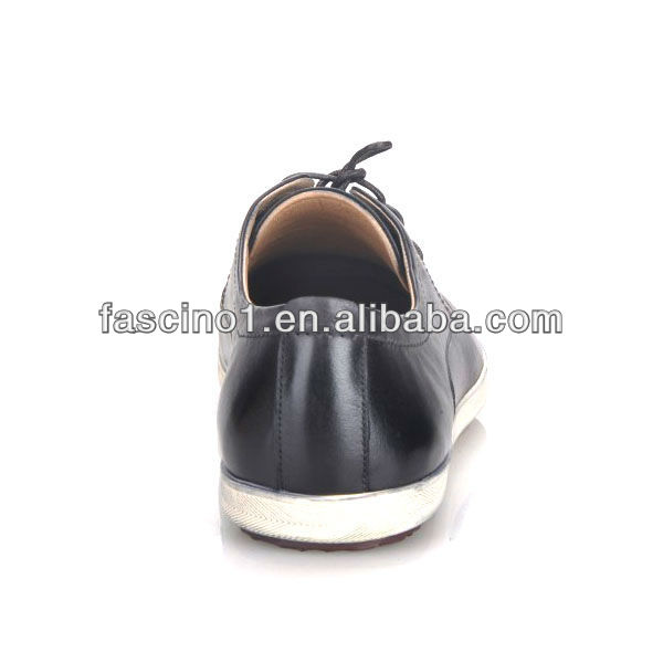 New style casual Italian mens leather lace-up shoe