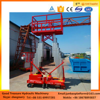 12m Cheap and high quality double column aluminum alloy lift