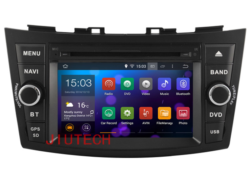 Quad-core Android 4.4 Two Din Car DVD Player Radio For SUZUKI SWIFT 2011-2012,SUZUKI SWIFT Car Multimedia GPS Navigation 3G Wifi