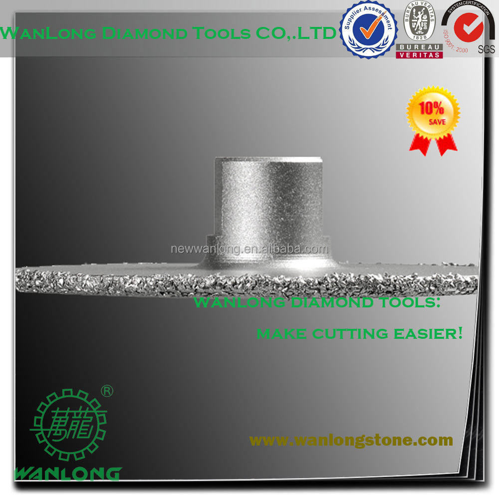 high efficiency vacuum brazed plasplugs 110mm diamond impregnated cutting wheel