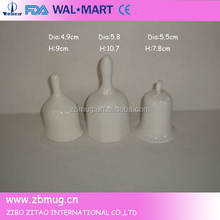 christmas design white ceramic wedding bells