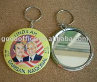 Best promotional gift - tinplate mirror key chain