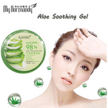 Wholesale <strong>Natural</strong> Brand Aloe Vera Gel for skin lightening 98% Content Sun Repair Shrink Pore Moisturizing Soothing Aloe Vera Gel